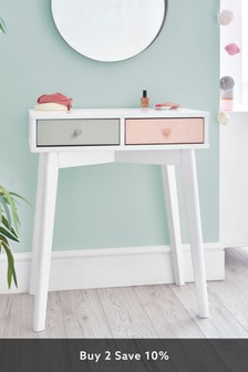 Quinn Pink Painted Dressing Table