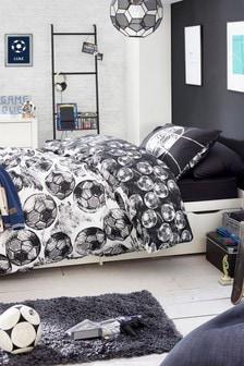 Mono Core Chalk Football Reversible Duvet Cover And Pillowcase Set