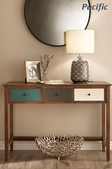 Pacific Lifestyle Pine Wood Multicoloured 3 Drawer Desk