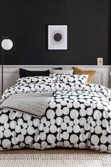 Monochrome Spot Duvet Cover and Pillowcase Set