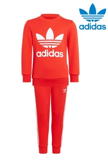 adidas Originals Little Kids Crew And Joggers Tracksuit
