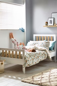 Parker White Bed with Storage Drawers