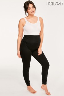 Figleaves Black Maternity Over The Bump Leggings