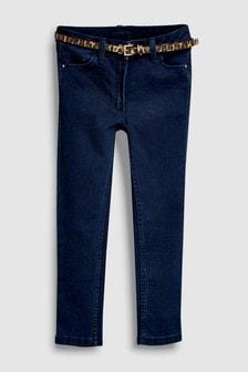 Skinny Jean With Animal Print Belt (3-16yrs)
