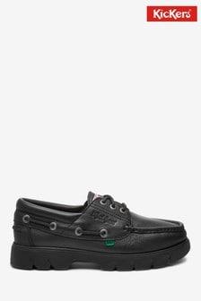 Kickers® Black Lennon Boat Shoes