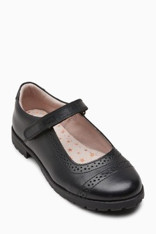 Leather Brogue Mary Jane Shoes (Older)