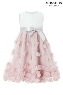 Monsoon Dusky Pink Baby Ianthe Dress