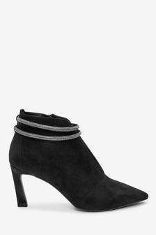 Sparkle Detail V-Cut Shoe Boots