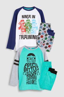 LEGO® Ninjago Pyjamas Two Pack (4-12yrs)