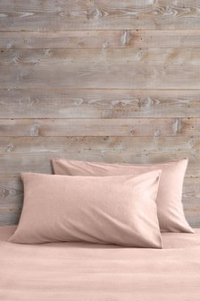 Set of 2 Brushed Cotton Housewife Pillowcases