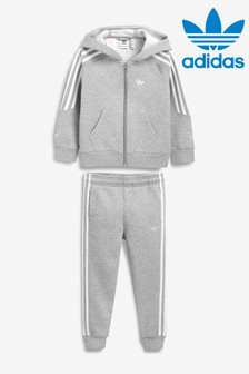 adidas Originals Little Kids Grey Outline Tracksuit