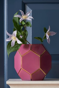 Berry Faceted Vase