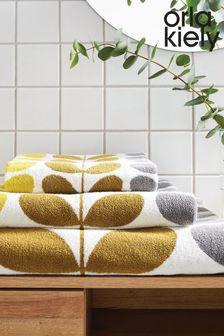 Orla Kiely Yellow Trio Stem Towel