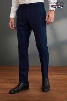 Slim Fit Signature Stripe Suit: Trousers
