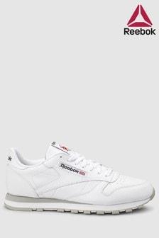 Reebok White/Grey Leather Club