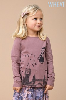 Wheat Pink Mary Poppins Long Sleeve Tee