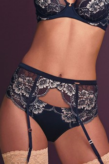 Silk And Lace Suspender Belt