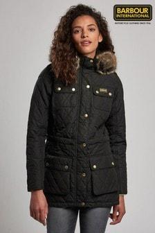 Barbour® International Enduro Black Quilted Coat