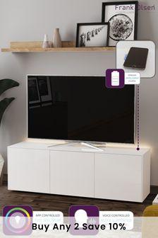 Frank Olsen Smart LED White Large TV Cabinet