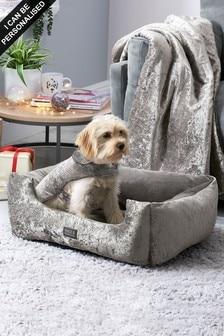 Crushed Velvet Dog Bed