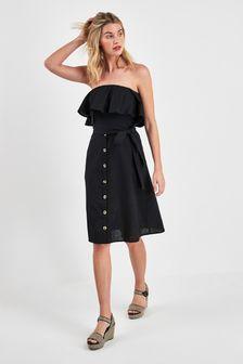 Bandeau Button Dress