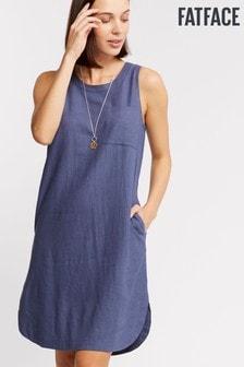 FatFace Lea Linen Blend Dress