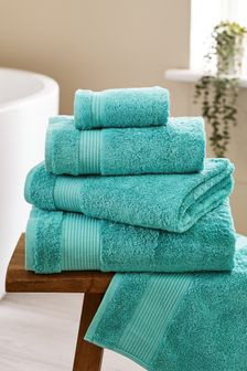 Bright Teal Egyptian Cotton Towels