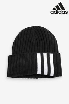 adidas Black 3 Stripe Beanie