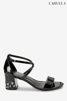 Carvela Black Libra Jewel Heeled Sandals