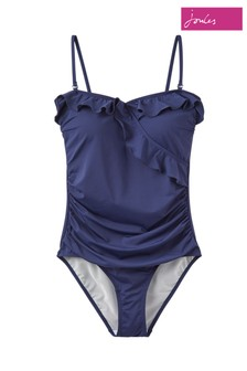 Joules Blue Nerina Frill Swimsuit