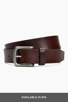 Creased Effect Leather Belt
