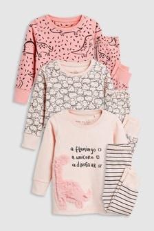 Dino Snuggle Pyjamas Three Pack (9mths-8yrs)