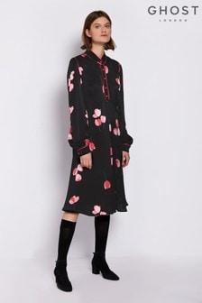 Ghost London Black Hallie Dress