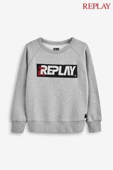 Replay® Kids Grey Logo Sweater