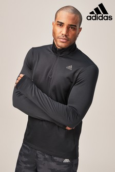adidas Run Black Response Climawarm Half Zip