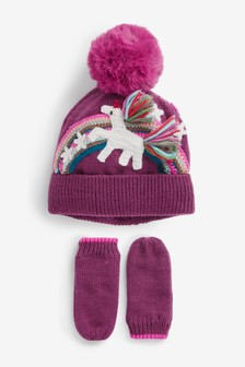 2 Piece Hat And Gloves Set (Younger)