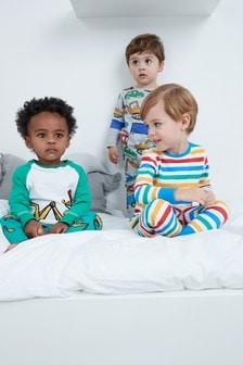 Transport/Stripe Snuggle Fit Pyjamas Three Pack (9mths-8yrs)