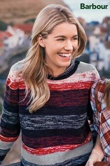 Barbour® Rhossili Navy/Red/Grey Stripe Knit