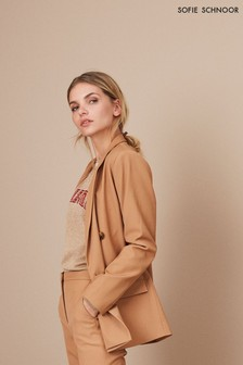 Sofie Schnoor Camel Double Breasted Blazer