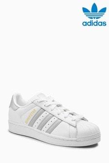 adidas Originals White/Silver Superstar