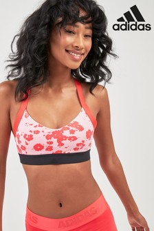 7138232e70ccc adidas Red Poppy Print All Me Iteration Bra