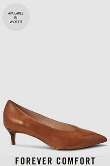 Leather Kitten Heels