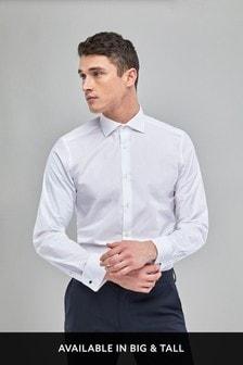 Curved Cutaway Collar Shirt