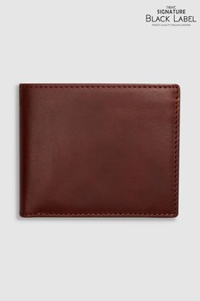 Signature Black Label Italian Leather Bifold Wallet