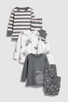Swan Snuggle Fit Pyjamas Three Pack (9mths-8yrs)