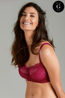 Lizzie DD+ Non-Padded Embroidered Balcony Bra