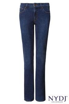 NYDJ Mid Blue Denim Billie Mini Boot Cut Jean