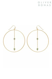 Oliver Bonas Tinde Large Gold Plated Hoop Earrings
