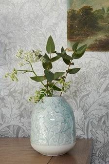 Floral Embossed Ceramic Vase