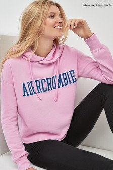 Abercrombie & Fitch Pink Over Head Logo Hoody
